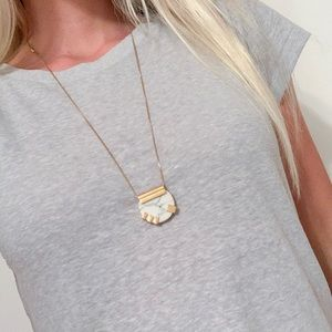 Madewell Gold Marble Necklace